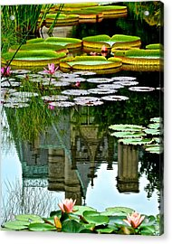 Prince Charmings Lily Pond Acrylic Print by Frozen in Time Fine Art Photography