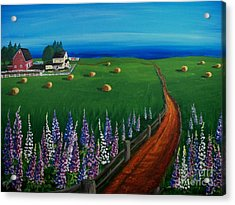Prince Edward Island Coastal Farm Acrylic Print by Patricia L Davidson