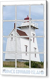 Prince Edward Island Travel Poster Acrylic Print by Edward Fielding