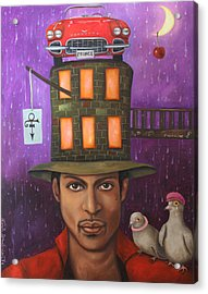Prince Acrylic Print by Leah Saulnier The Painting Maniac