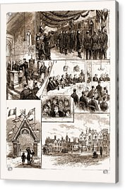 Prince Leopolds Visit To Colchester, And The Installation Acrylic Print by Litz Collection