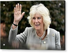 Prince Of Wales And The Duchess Of Cornwall's Irish Trip Day Three Acrylic Print by Jeff J Mitchell