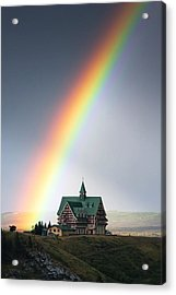 Prince Of Wales Rainbow Acrylic Print by Mark Kiver