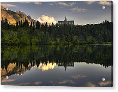 Prince Of Wales Reflection Acrylic Print by Mark Kiver