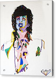 Acrylic Print featuring the painting Prince Purple Reign by Stormm Bradshaw