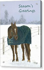 Prince Seasons Greetings Acrylic Print