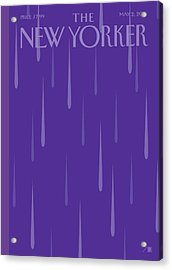 Prince Tribute Acrylic Print by Bob Staake