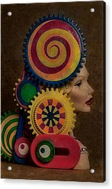 Princess And Contraption 1 Acrylic Print by Jeff  Gettis