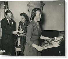 Princess Beatrix Of The Netherlands Receives Her Birthday Acrylic Print by Retro Images Archive