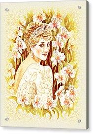 Acrylic Print featuring the painting Princess Diana by Irina Sztukowski
