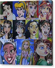 Princess-fine Art Mash-up Acrylic Print