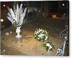 Acrylic Print featuring the photograph Princess Grace Tomb by Allen Sheffield