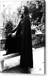 Princess Ira Furstenburg Beside A Bench In Rome Acrylic Print