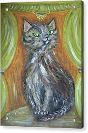 Acrylic Print featuring the painting Princess Kitty by Teresa White