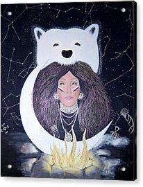 Princess Moon Acrylic Print