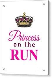 Princess On The Run Acrylic Print