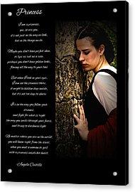 Princess Poem Acrylic Print