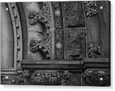 Princeton Architectural Detail Acrylic Print by Glenn DiPaola