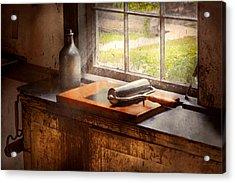 Printer - A Hope And A Brayer Acrylic Print by Mike Savad