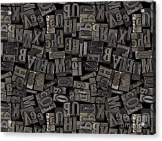 Printing Letters 2 Acrylic Print by Bedros Awak