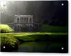 Acrylic Print featuring the digital art Prior Park Bath by Ron Harpham
