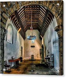 Priory Church Of St Seiriol Acrylic Print by Adrian Evans
