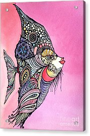 Priscilla The Fish Acrylic Print