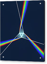 Prism And 3 Spectrums Acrylic Print by David Parker