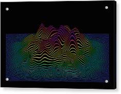 Prismatic Line Landscape Acrylic Print by Jorg Greuel