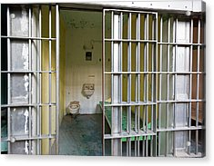 Prison Cell At Wyoming Frontier Prison Acrylic Print by Jim West