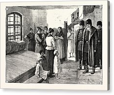 Prison Life In Siberia The Governor Visiting The Womens Acrylic Print by English School