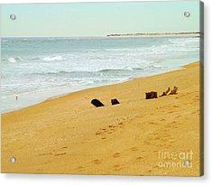 Private Beach Acrylic Print by Brigitte Emme