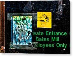 Private Entrance Acrylic Print by Bob Orsillo