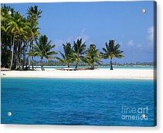 Private Motu Bora Bora Acrylic Print by Camilla Brattemark