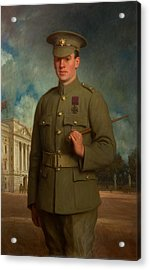 Private Thomas Whitham, Vc, 1918 Acrylic Print by Isaac Cooke