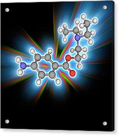 Procaine (novocaine) Drug Molecule Acrylic Print by Laguna Design/science Photo Library