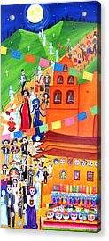 Procession Acrylic Print by Evangelina Portillo