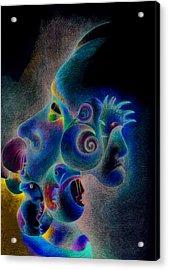 Profile Acrylic Print by Bodhi