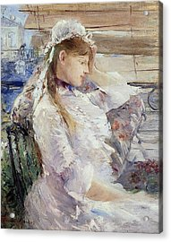 Profile Of A Seated Young Woman Acrylic Print by Berthe Morisot