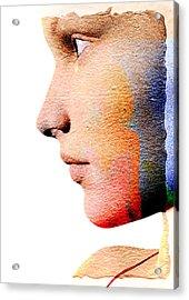 Profile Of A Woman Acrylic Print by David Ridley