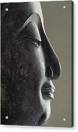 Profile Of The Face Of Buddha, 17-18th Acrylic Print by Everett