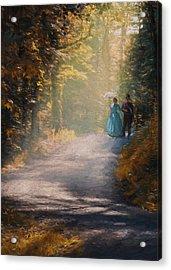 Promenade D'antan Acrylic Print