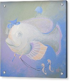 Acrylic Print featuring the painting Promenade by Marina Gnetetsky