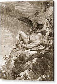 Prometheus Tortured By A Vulture, 1731 Acrylic Print by Bernard Picart