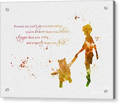 Promise Me You'll Always Remember Acrylic Print by Rebecca Jenkins
