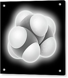 Propane Molecule Acrylic Print by Laguna Design