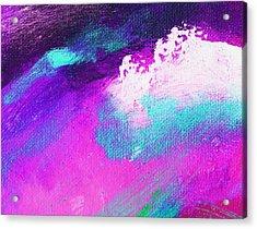 Propel Aqua Blue Pink Acrylic Print by L J Smith