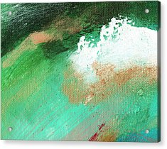 Propel Aqua Green Acrylic Print by L J Smith