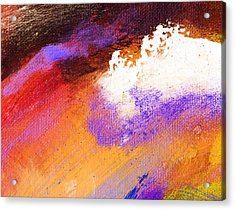 Propel Ember Red Acrylic Print by L J Smith