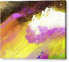 Propel Yellow Purple Acrylic Print by L J Smith